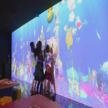 fantastic AR transparent interactive touch screen painting and drawing wall for kids indoor playground or shopping mall