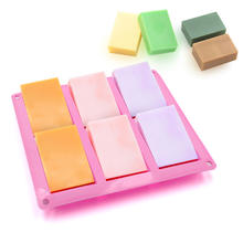 Wholesale 6-Cavity Silicone Soap Mold For Homemade Craft Soap Mold Cake Mold Ice Cub