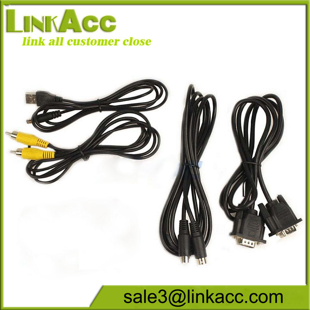 PC Laptop VGA để TV RCA Composite S-video Converter Box cable
