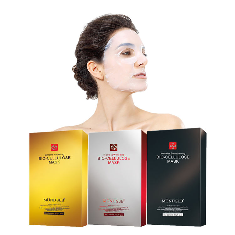 Private label nature ingredients biotech facial skin care product lifting brightening bio cellulose coconut face mask sheet oem