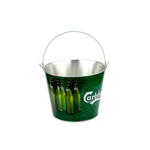 Wholesale Walmart Red Rull champagne Beer Aluminum Tin Ice Bucket Custom Bulk Stainless Steel Metal Ice Bucket