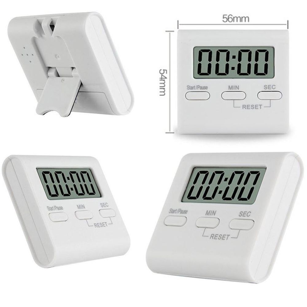 LCD Digital Table Countdown Magnet Alarm Clock DIY Kitchen Gadgets Oven Cooking Timer