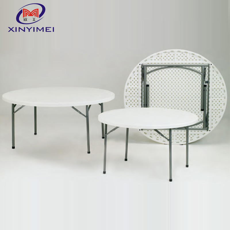 Hot sale outdoor folding 8 seat plastic table