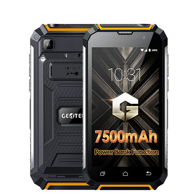 Geotel G1 Smartphone Android 7.0 Power <span class=keywords><strong>Bank</strong></span> 7000 MHA Baterai Quad Core Ponsel