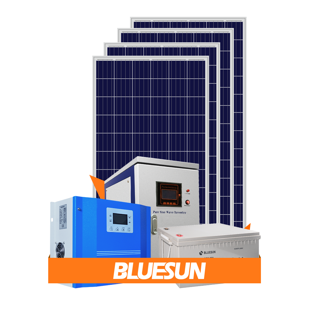 Bluesun 4kw 5kw 6000w 6 kw solar system home power kit with lithium battery