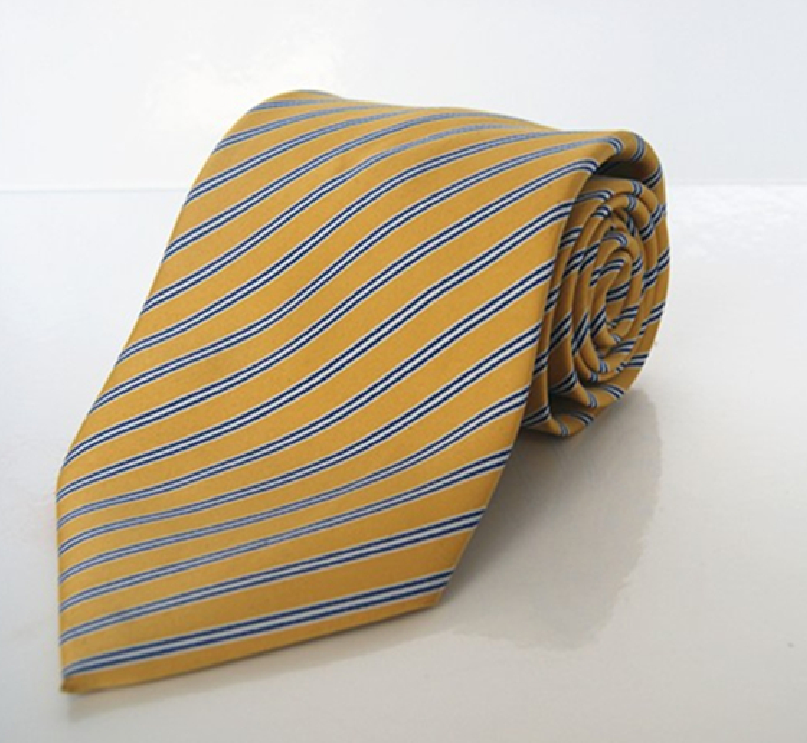 Silk Tie Cheap Golden Yellow Stylish Neckties