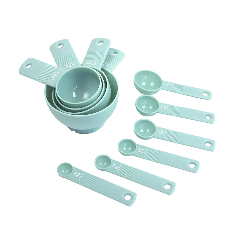 China Factory Wholesale Best Selling 10-piece Measuring Tools Set Plastic Measuring Spoons Cups
