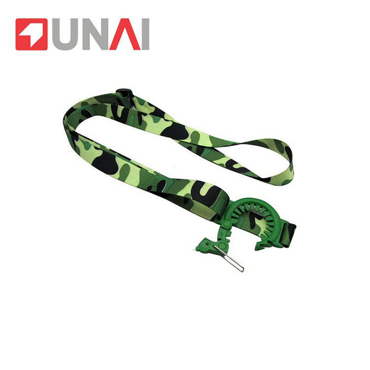 Plastic buckle vrious style printing lanyard for water bottle holder