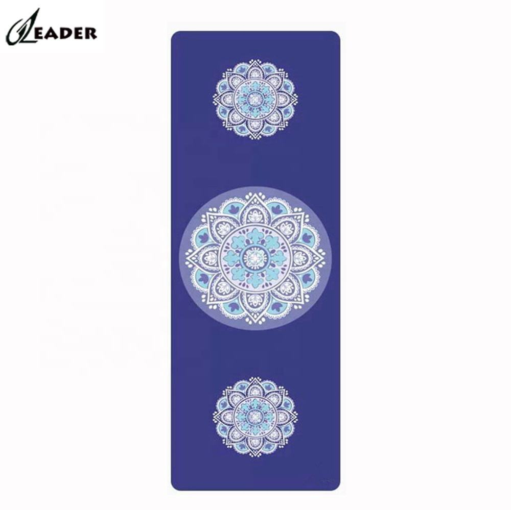 Wholesale blue thick suede microfiber workout bodhi yoga mat