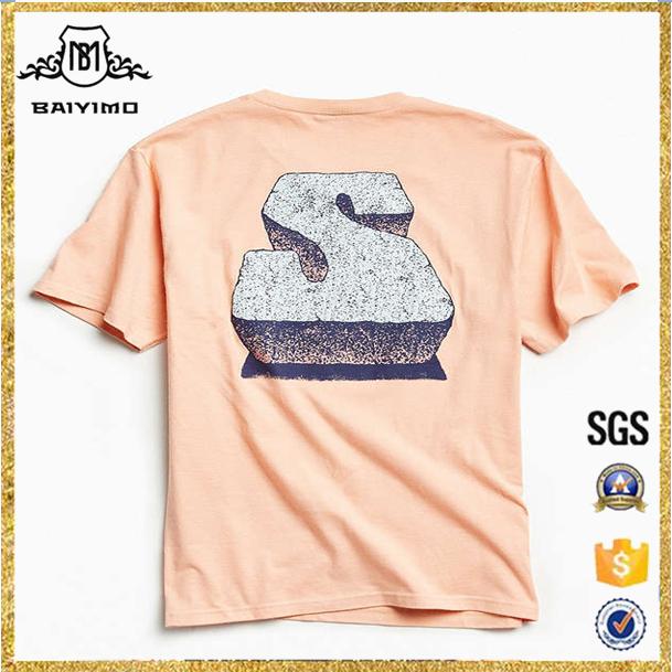 2017 Perfectamente Al Por Mayor Nuevo Estilo de Los Hombres de Encargo Camiseta Impresa S Piedra Logos Camisetas con Gráficos