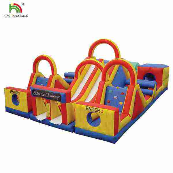 New fun inflatable obstacle course /Outdoor activities inflatable obstacle with slide/ Cheap inflatable sport game for sale