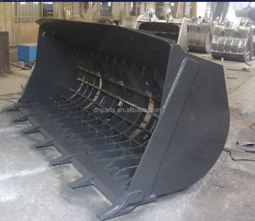 Customized High Quality Wheel Loader Sorting Bucket /Loader Skeleton Bucket/Loader Sieve Bucket