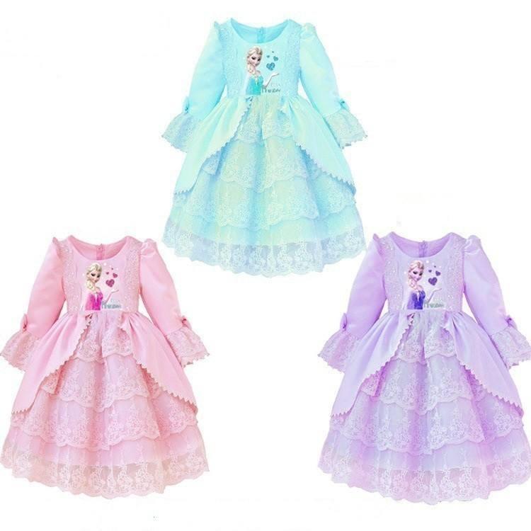 工場直接salesnew冷凍ベビー子供の女の子のドレスブランド2月7日年秋2015冷凍プリンセスドレス女の子のための最新のドレス