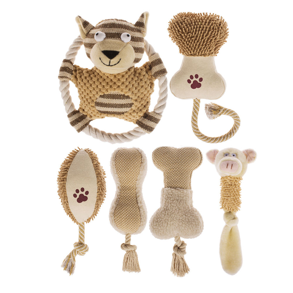 Produsen Private Label Boneka Grosir PET Pack Set Natural Kustom Berderit Plush <span class=keywords><strong>Anjing</strong></span> <span class=keywords><strong>Mainan</strong></span>