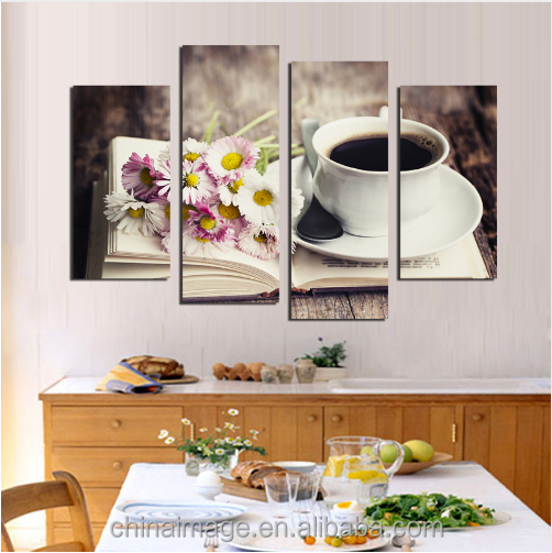 4 pieces Canvas Painting Wall Art Prints canvas print wall art for Coffee shop