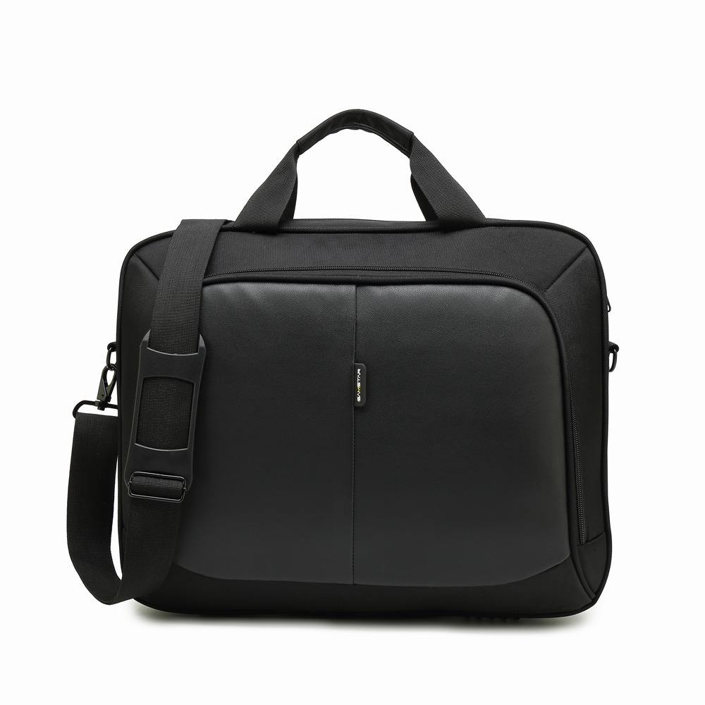 Business Nylon Computer Handbags Portable Unisex Shoulder Office Laptop Simple Bags Briefcase Black Totes 15 Inches