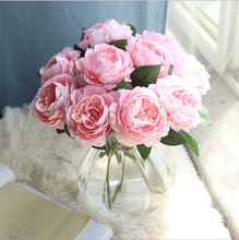 Decorative High Quality Wholesale artificial peony for Table decoration artificial silk Cloth peony