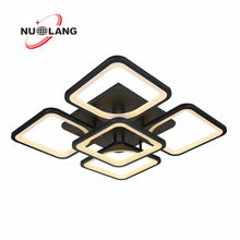 Square 2.4G Dimmable Remote Control Popular Design Acrylic LED Light Chandelier