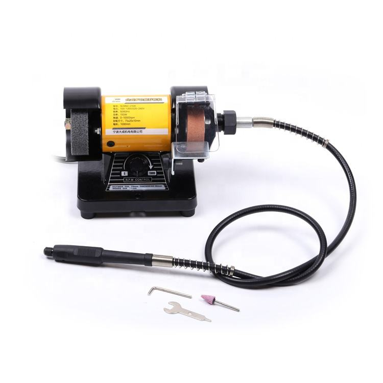 High Quality 110-240V,150W,1000RPM,75MM Wheel Size Variable Mini Bench Grinder DIY Use