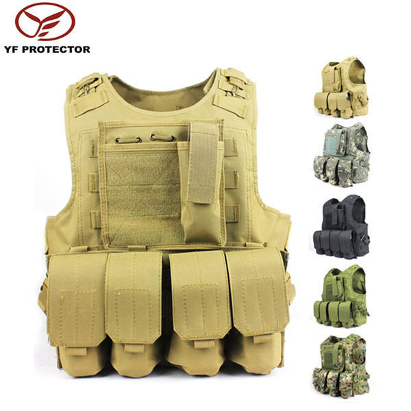 airsoft tactical molle pouch vest/army combat tactical vest