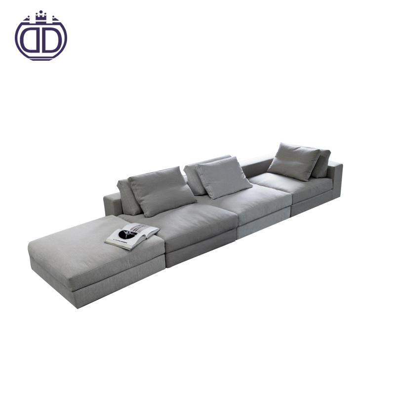 Simples conjuntos de sala de estar em forma de L sofá da tela mobiliário de design sofá estilo coreano 9 seater sofa set
