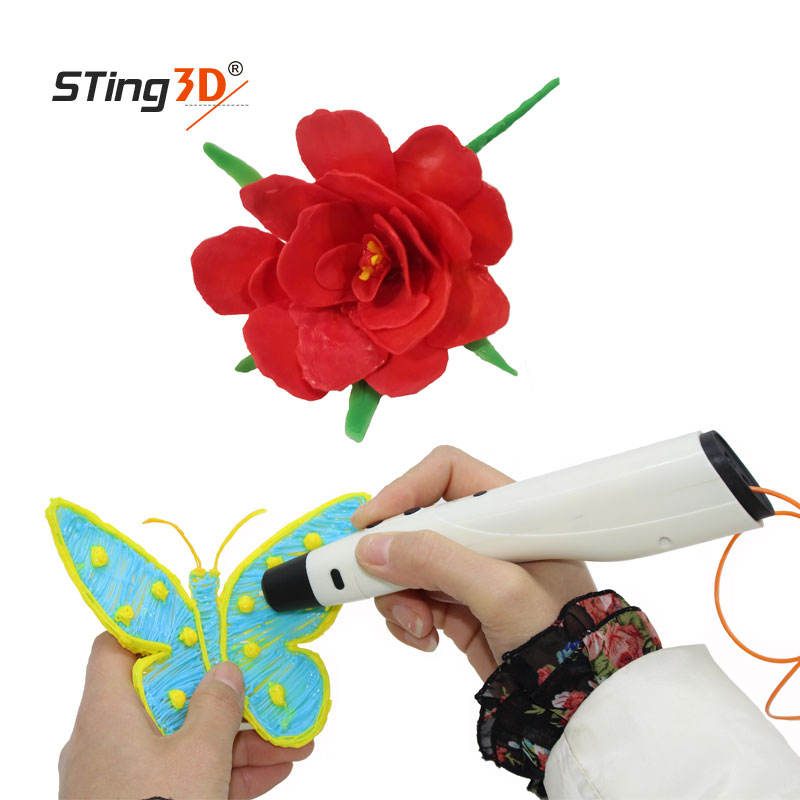 Hot sale li-battery 3d pen printed 3d drawing pen low temperature 3d pen