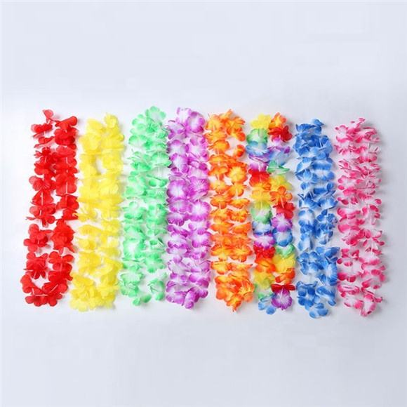 FC9401 Floral Leis Polyester Mixed Color Hawaii Lei with many colors
