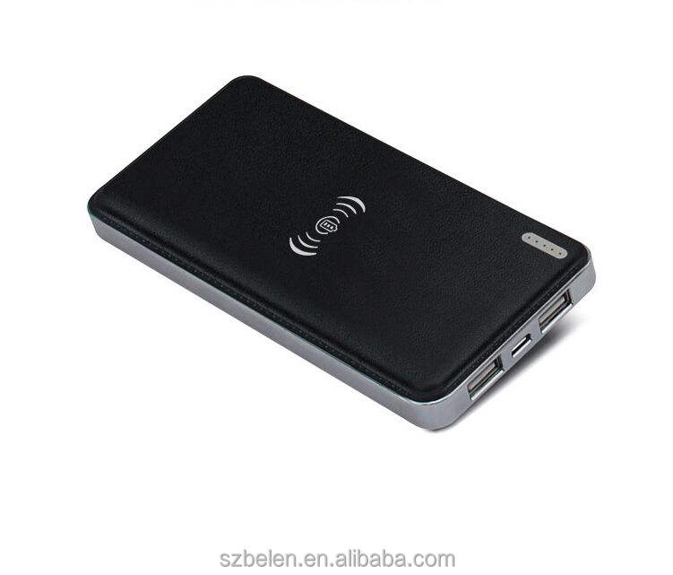 Hot Jual Qi 10000 MAh Nirkabel Power Bank untuk iPhone Android