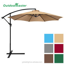 10ft Offset Cantilever Hanging Outdoor Market Patio Umbrella