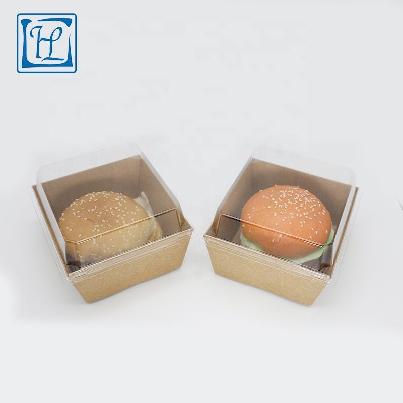 Usa e getta di carta kraft personalizzato stampato <span class=keywords><strong>burger</strong></span> <span class=keywords><strong>box</strong></span>