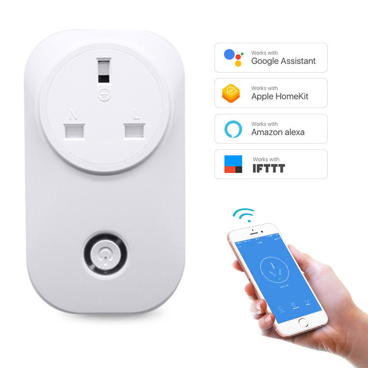 UK Wireless Power Sockel Energie Verbrauch Timer Countdown