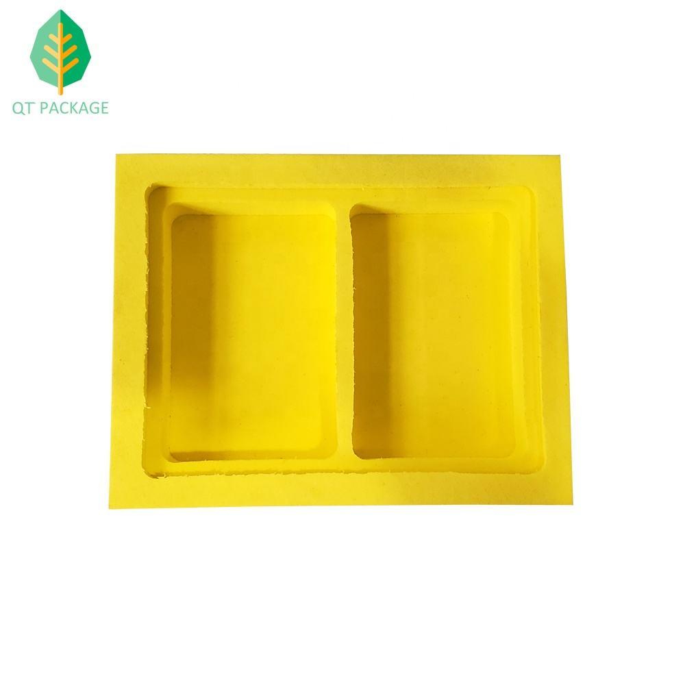 QT PACKAGE High Density Protective Yellow Color EVA Foam Playing Card Box Insert