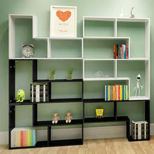 2018 popular high quality cheap wooden shelf bookcases black & white