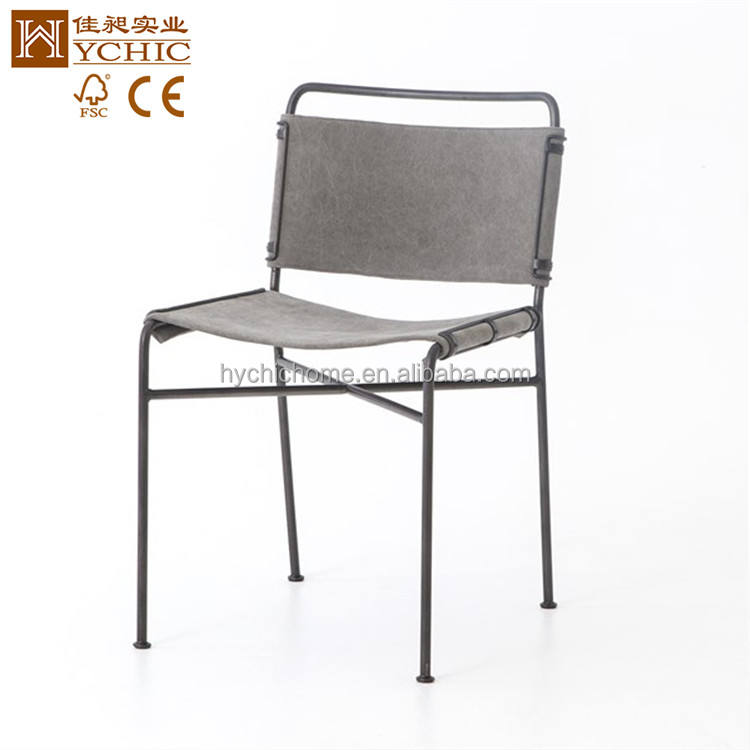Stacking Metal Frame new Design armless Modern Dining Chair with fabric