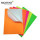 Hot sale self adhesive colorful fluorescent paper