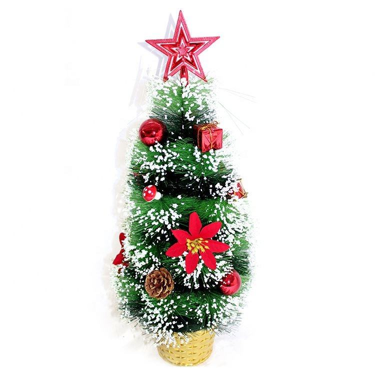 Special Price Red Beads Gift Star Decorated 20cm Mini Tabletop Christmas Tree