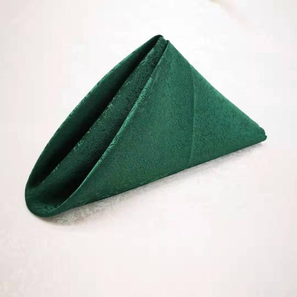 wedding polyester emerald green napkin table dinner napkin for banquet