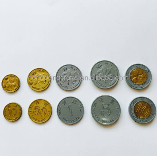 plastic token coin collection