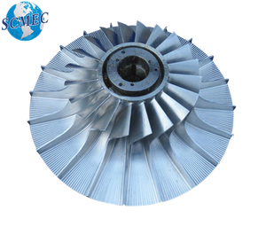Five axis CNC machined turbocharger compressor impeller/wheel
