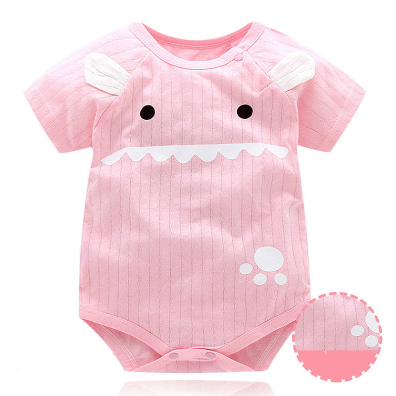 Infant Princess Baby Boy Girls Pink Color Clothes Short Sleeve Baby Rompers Jumpsuit Baby Autumn Summer Cute Clothes