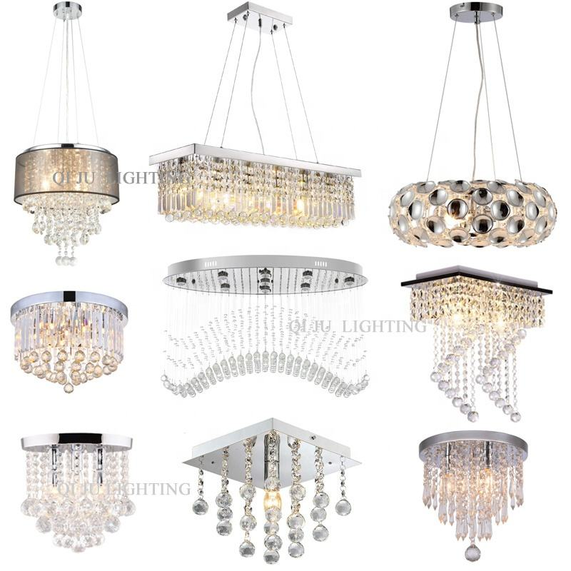 Large Hotel Lighting Fixtures Design Lamp LED Decorative Chandeliers Black Color Vintage Modern Pendant Lighting With Crystal