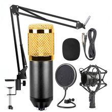 High quality BM-800 Mic Kit Condenser Microphone with Adjustable Mic Suspension Scissor Arm, Shock Mount and Double-layer Filter