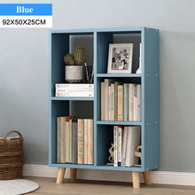 Floor-to-wall Bookcase Retro Bookshelf Solid Wood Table Feet
