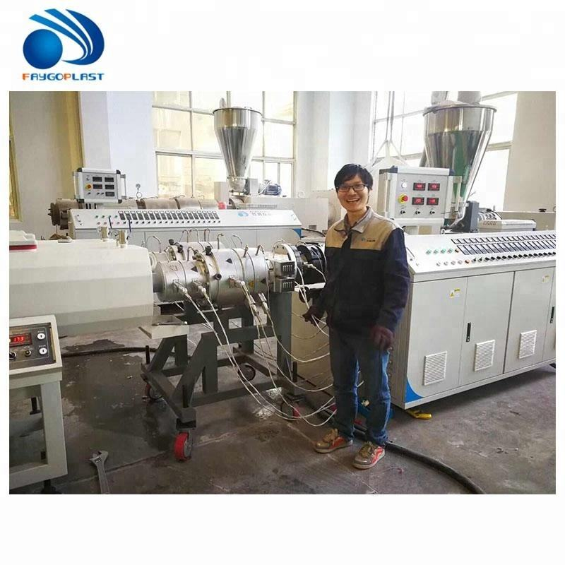 20-110mm PVC plastic pipe making machinery for electric water