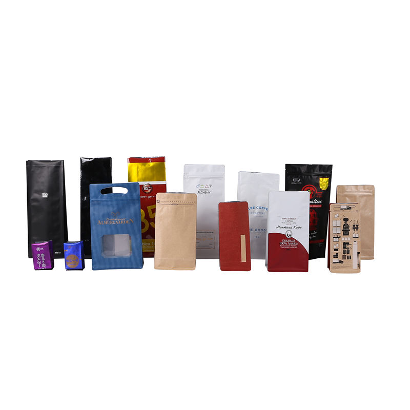Custom design printing plastic coffee bag with aluminum foil and valve zipper lock coffee beans bag