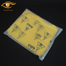 Low MOQ custom logo printed pvc slider zipper bag