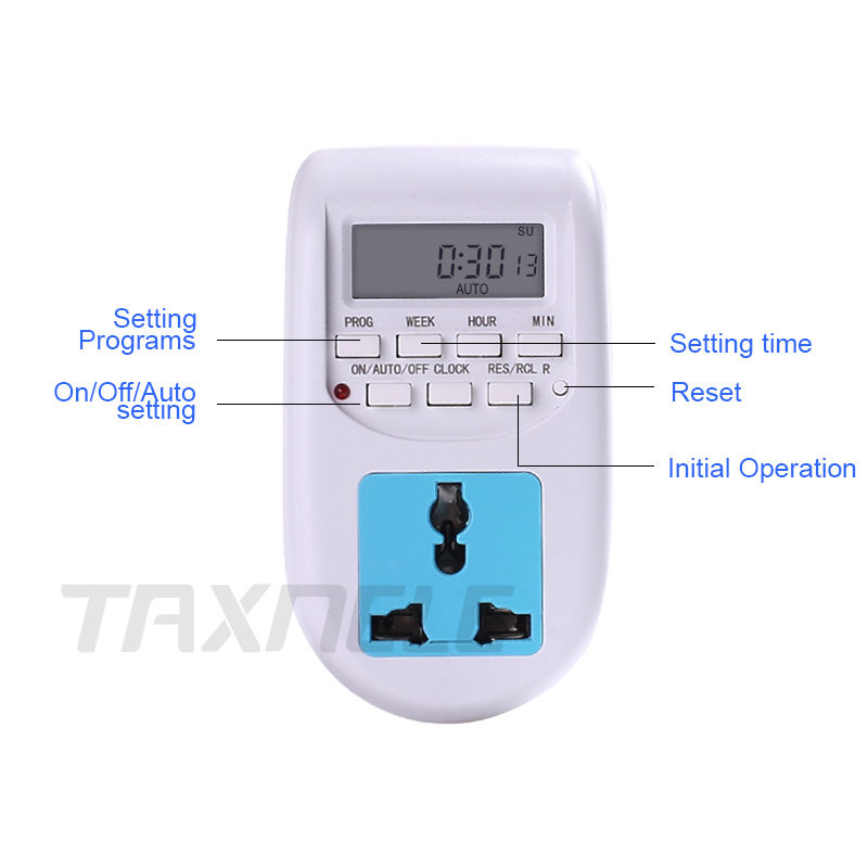 Digital Timer Switch EU Plug AL-06 Weekly Programmable Electronic 220VAC, Timer Lighting Switch Wall Controller Timer