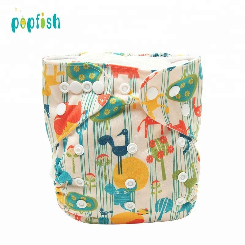 Super-absorbency Reusable Printed Babies Cloth Changing Diapers Baby Boy Swim Diaper
