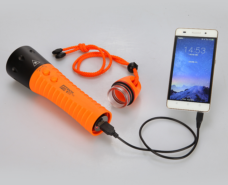 poplite F12 rechargeable 18650 battery waterproof diving torch for importer retailer