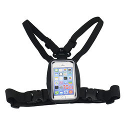 Mobile Phone Chest Mount Harness Strap Holder Cell Phone Cli